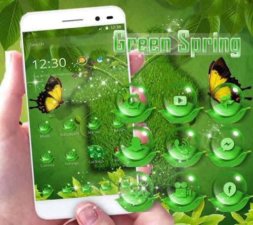 Green Leaf Spring Theme