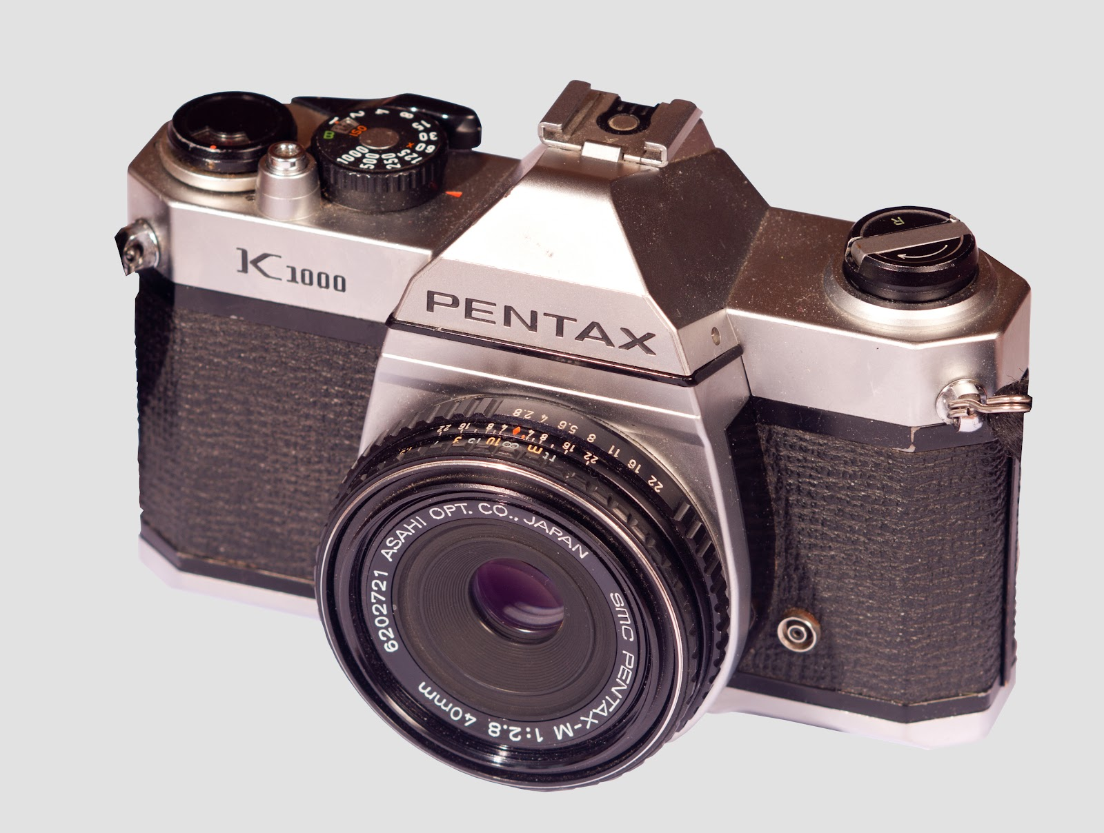 A photo of the Pentax K1000 35mm camera