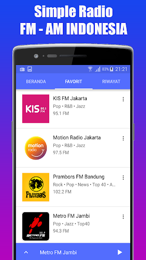 Radio Favorit FM - AM Stereo Indonesia 1.1.1 std-slm-test screenshots 2