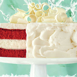 Red Velvet Cheesecake-Vanilla Cake with Cream Cheese Frosting.