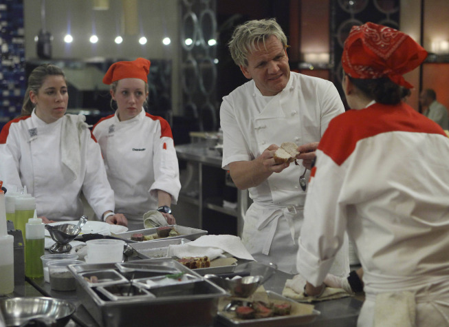 Photo: HELL'S KITCHEN: Chef Gordon Ramsay (C) scolds the red team during dinner service on the first part of the two-night Season 10 premiere of  HELL'S KITCHEN airing Monday, June 4 (8:00-9:00 PM ET/PT) and Tuesday, June 5 (8:00-9:00 PM ET/PT) on FOX. ©2012 Fox Broadcasting Co. Cr: Greg Gayne/FOX