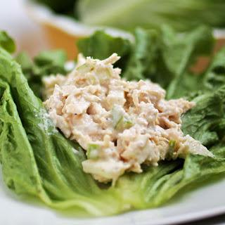 Chicken Apple Salad Lettuce Wraps.