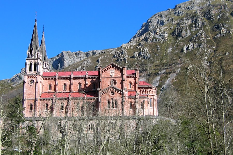 Covadonga Gateway by DJ Cockburn - Buildings & Architecture Public & Historical ( catholic, reconquista, basilica of santa maría la real, church, covadonga, picos de europa, asturias, cangas de onís,  )