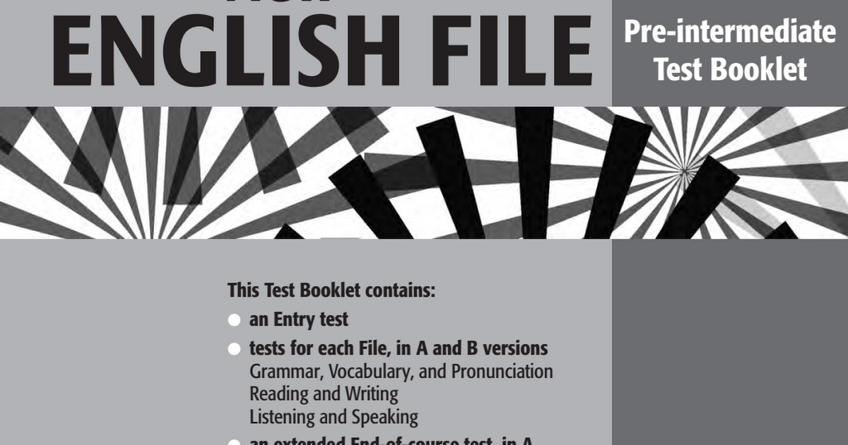 New english file pre intermediate testbookletpdf google drive fandeluxe Images