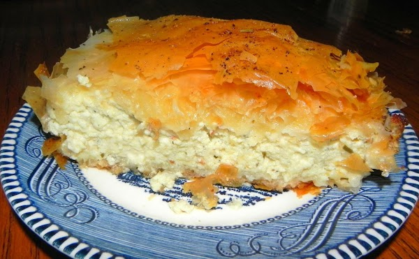 Tiropita  -  Greek Cheese Pie Recipe
