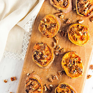 Glazed Pecan Sweet Potato Rounds.