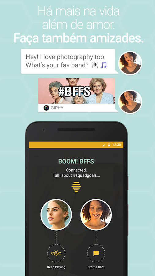 Bumble: captura de tela