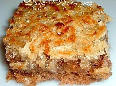 Oatmeal Cake With Broiled Coconut And Brown Sugar Topping