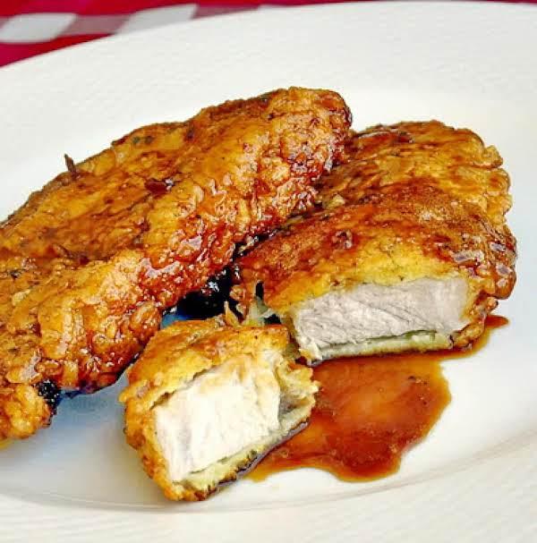 Double Crunch Honey Garlic Pork Chops Recipe