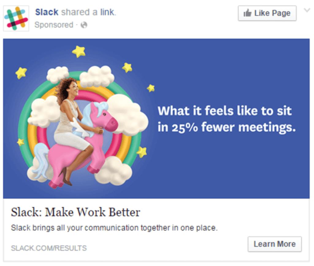 Best Facebook Ad Examples - Slack