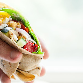 Greek Chickpea Wraps.