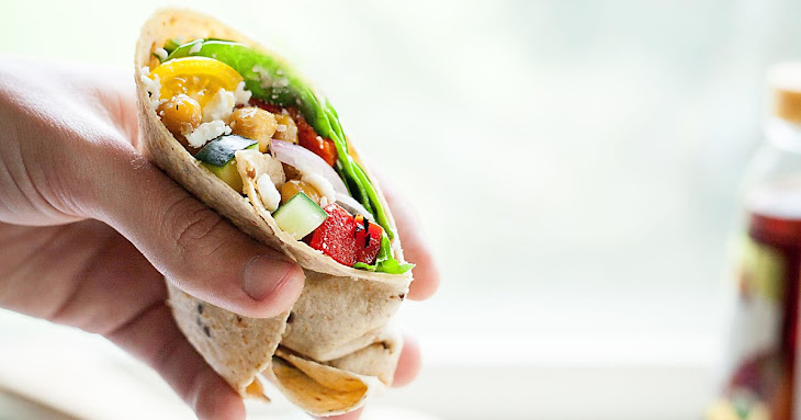 Greek Chickpea Wraps Recipe