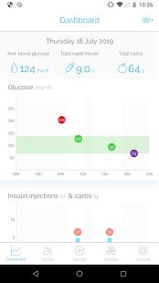 rastreador diario de diabetes mysugr
