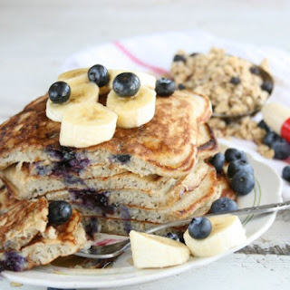 Banana-Blueberry Pancakes.