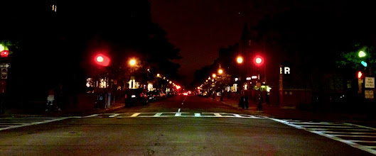 Photo: Newbury Street at Night  On the way home from tonight's Celtics game I realized I hadn't taken my #365project image, so I snapped this. Not my strongest effort, but I'm exhausted.  Apologies to my curators +Susan Porter and +Simon Kitcher