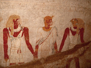 Photo: El Kurru - a tomb with amazingly well kept wall paintings