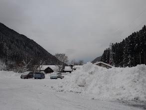駐車場に除雪の山