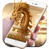 3D Golden  Dragon