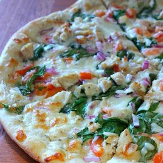 White Garlic Chicken and Veggie Pizza.