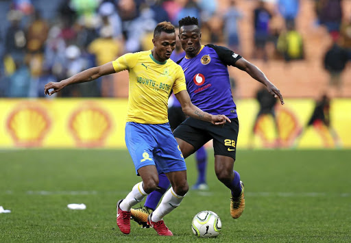 Toni Silva, left, seen here with Philani Zulu of Kaizer Chiefs, has left Sundowns after playing just four legue games.