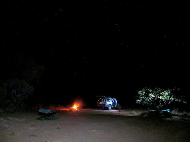 Camp after dark