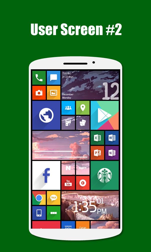 SquareHome 2 - Launcher: Windows style Screenshot 7