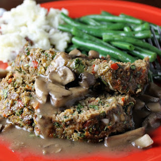 Great Meatloaf with Mushroom Gravy.