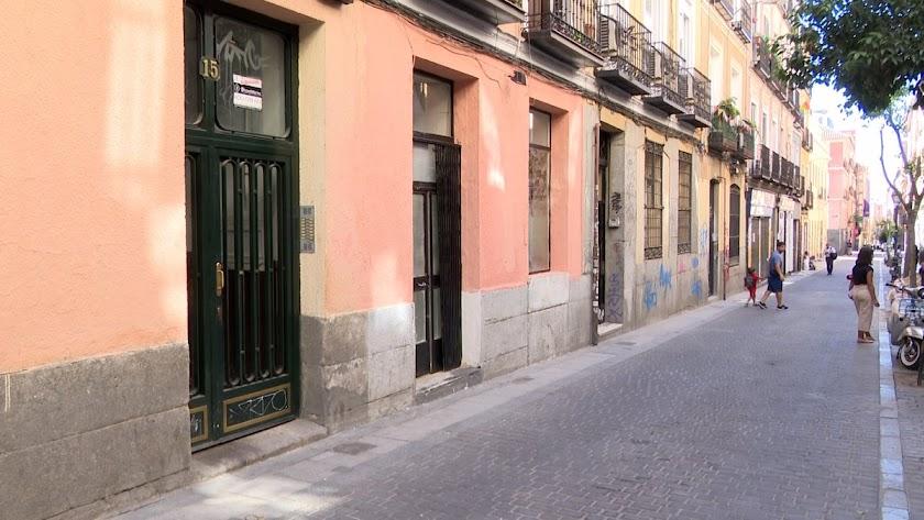 Portales del barrio madrileño de Malasaña.