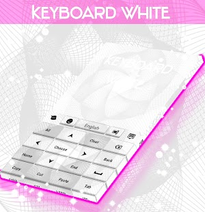 White Keyboard Theme- screenshot thumbnail