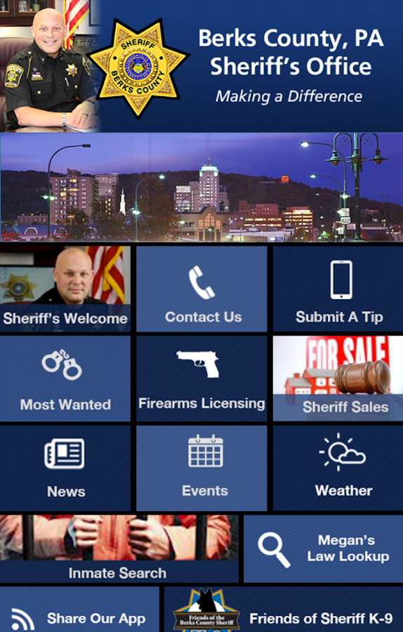Berks County Sheriff's Office- screenshot