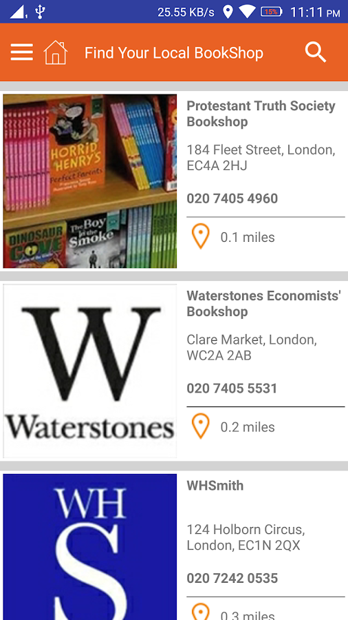 Bookshop Search- screenshot
