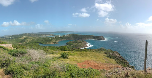 antigua-overlook.jpg - A view of the extremely windy southeast coast of Antigua.