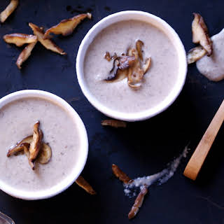 Roasted Garlic Cream of Mushroom Soup {Dairy-Free}.