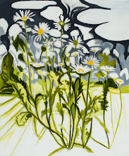 """Photo: Oxeye Daisy Drawing, pencil and acrylic on mylar, 36"""" x  30"""", 2012"""
