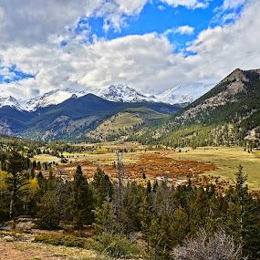 Estes Valley by Charles Saunders - Landscapes Mountains & Hills ( mountain, nature, best, colorado, sun, summer, estes park )
