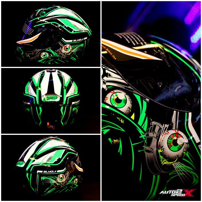 หมวกกันน็อค Bilmola Defender ลาย Monster EyeS 2015 ล็อตใหม่แถมชิลด์ !!