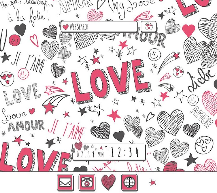 Cute Wallpaper Hearts & Love Theme Android App Screenshot