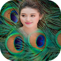 Peacock Feathers Photo Frame icon
