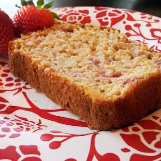 {Greek Yogurt Strawberry Banana Bread}