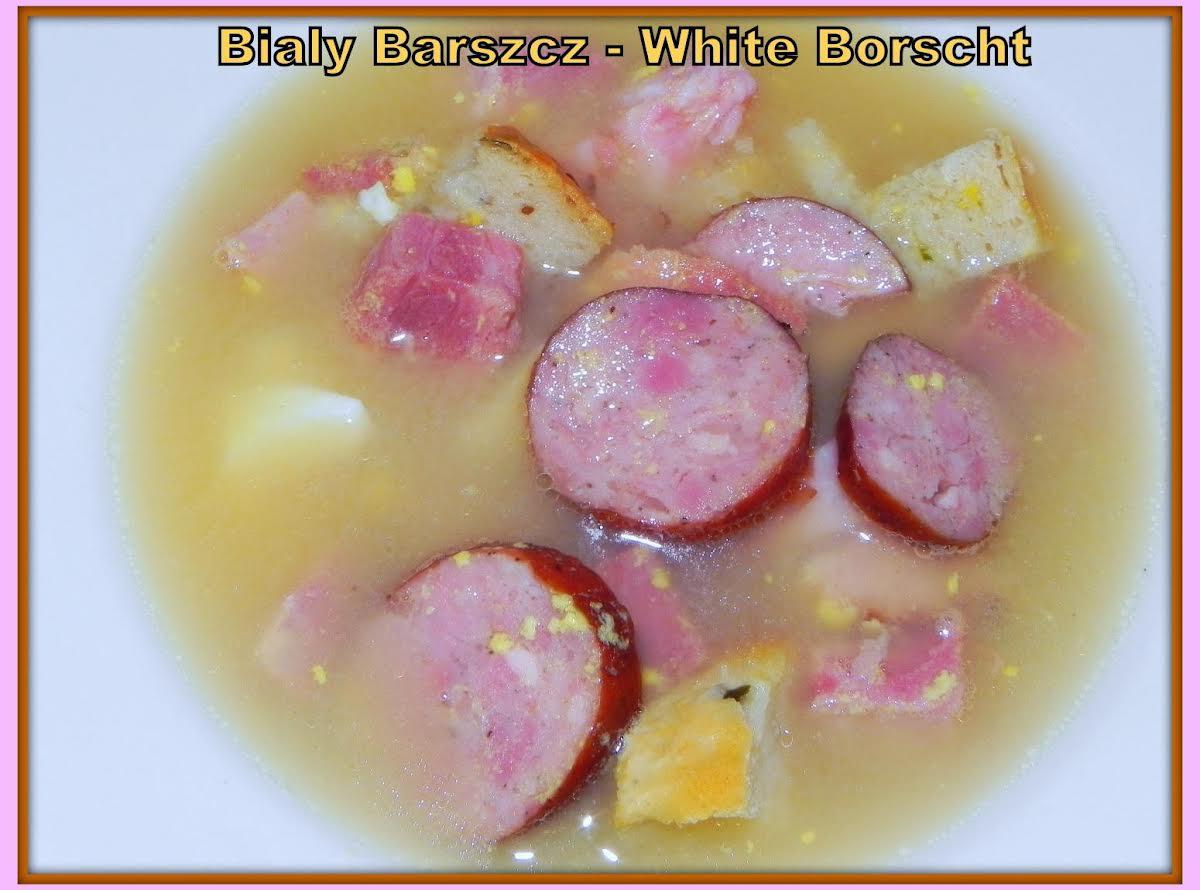 White Borscht Polish Easter Soup Bialy Barszcz Just A Pinch