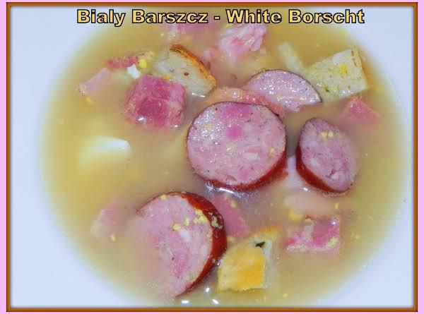 White Borscht - Polish Easter Soup - Bialy Barszcz