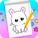 How to draw cute animals step by step icon