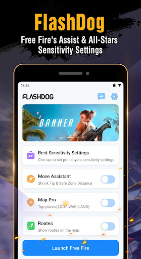 FlashDog - Booster & Pro Sensitivity for Free Fire 1.3.4 screenshots 1