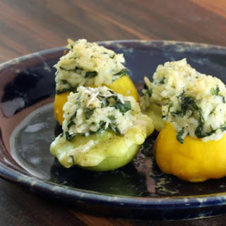 Patty Pan Squash With Rice Stuffing