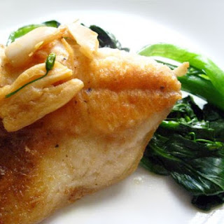 Butterfish Filet w/ Garlic Soy Chinese Broccoli