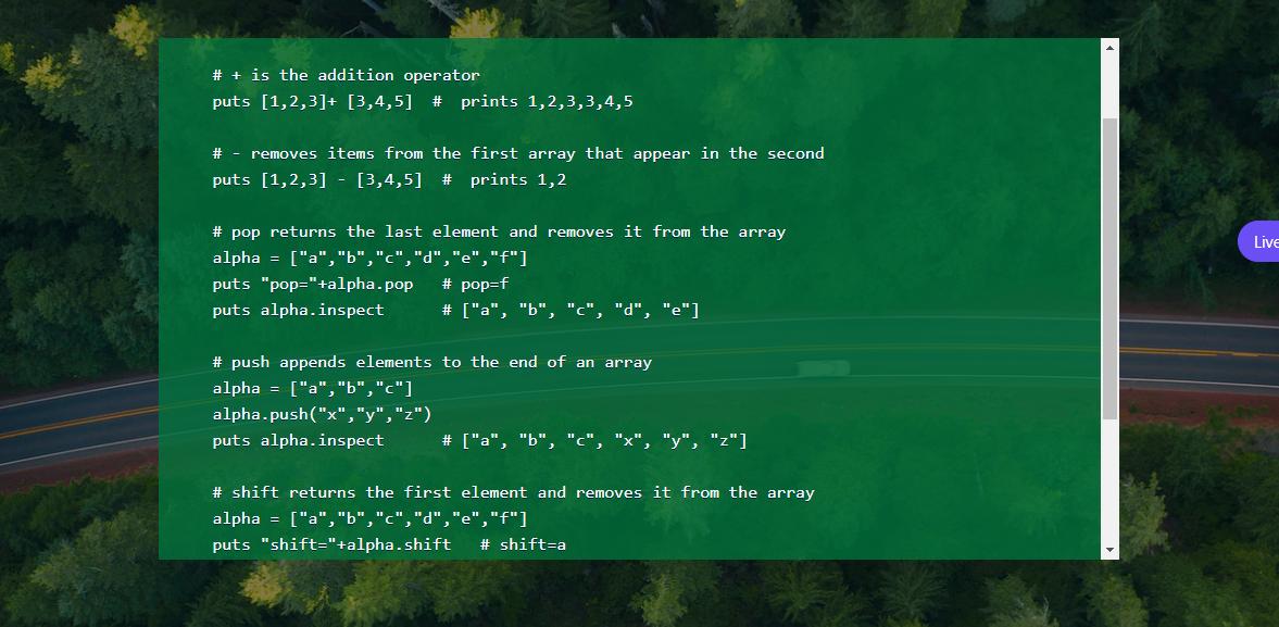 Display source code