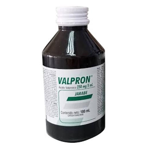 Valproato De Sodio Valpron Jarabe 250Mg/5Ml 180 Ml Anticonvulsivante profiláctico ataques epilépticos
