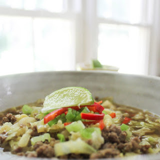 Low Carb Chinese Cabbage Beef Soup.