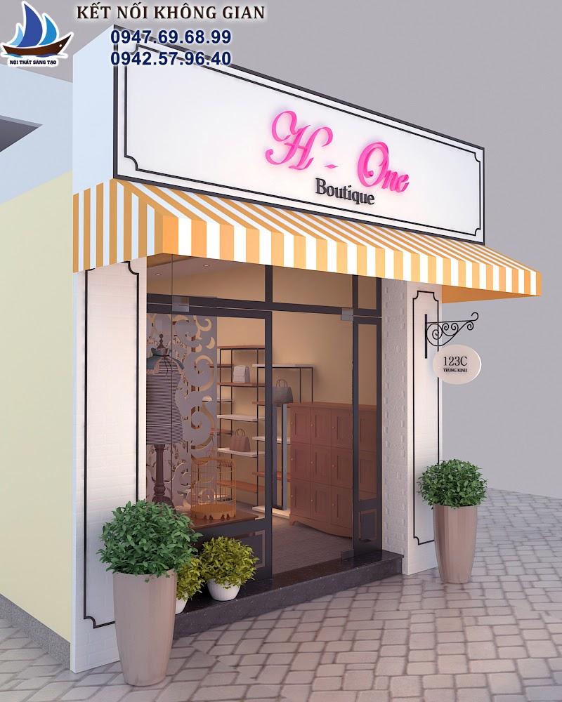 thiết kế cửa hàng thời trang nữ ấn tượng