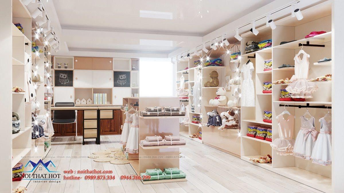 thiết kế shop mẹ và bé hiện đại